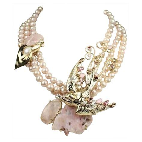 Sale Ring Handphone Swarowski Motif Malaikat philippe ferrandis pink glass quartz and swarovski bird motif necklace for sale at 1stdibs