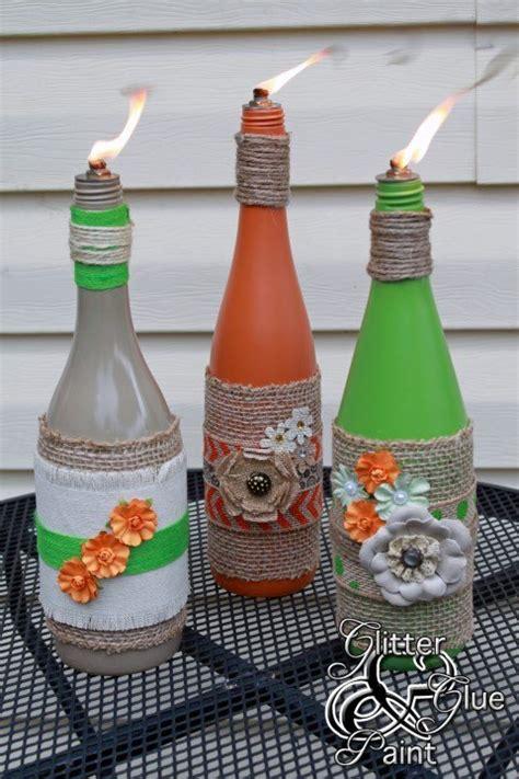 incredible backyard ideas  empty wine bottles