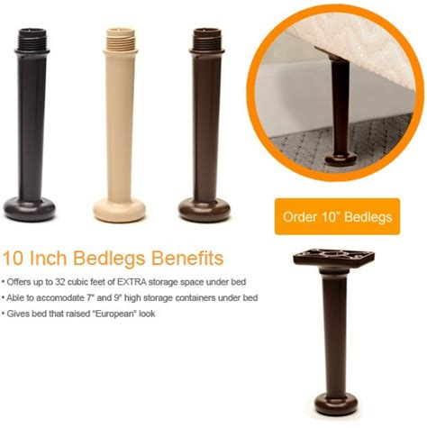 universal bed legs 10 quot get rid of metal bed frame ebay