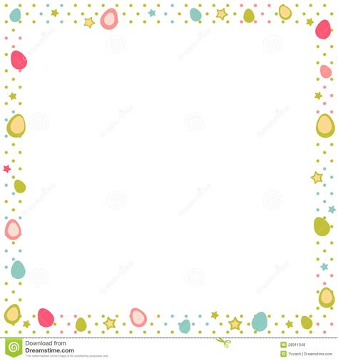 Yellow Rabbit Polkadot easter eggs colorful frame polka dot royalty free stock
