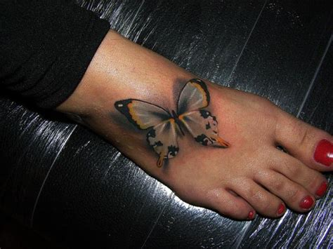 3d tattoo on foot butterfly tattoos and designs page 46