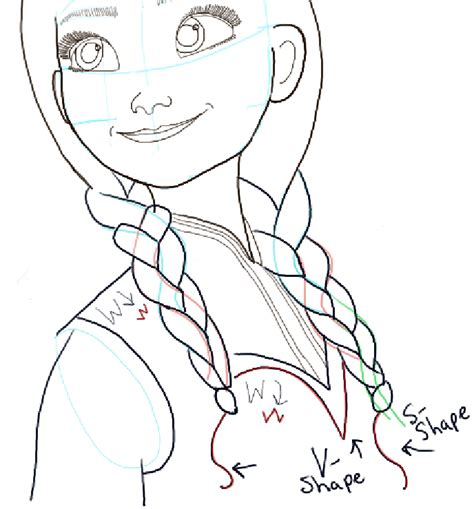 How To Draw Princess Anna From Frozen Step By Step Princess Elsa Drawing