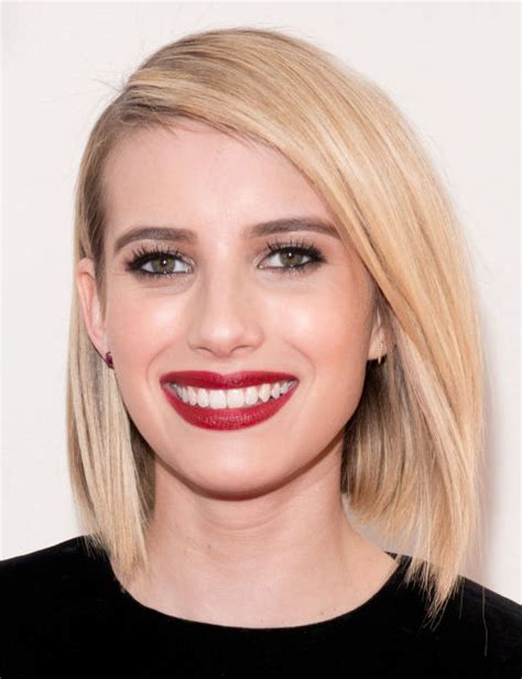 haircuts for any face shape glamorous look angled bob haircut for any face shape