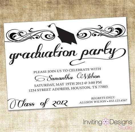 Invitation Cards Templates For Graduation by Graduation Invitations Graduation