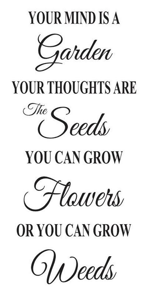 inspirational quote stencils printable primitive inspirational stencil your mind is a garden