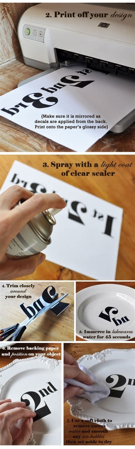Make Your Own Decal Paper - diy transfer decal tutorial