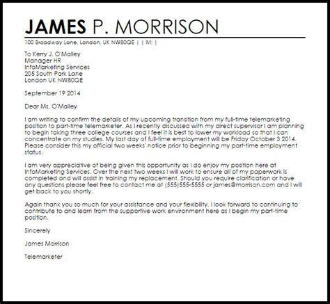An Angry Resignation Letter Letter Of Resignation From Fulltime To Part Time Resume Layout 2017