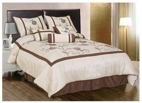 family dollar bedding 7 piece embroidery water lily comforter set bed in a bag