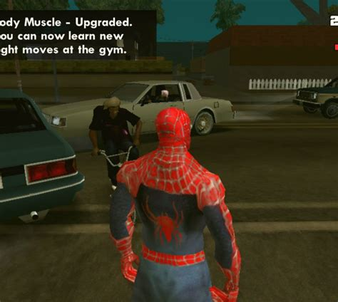 spider man game mod android gta san andreas spiderman v1 for android mod gtainside com