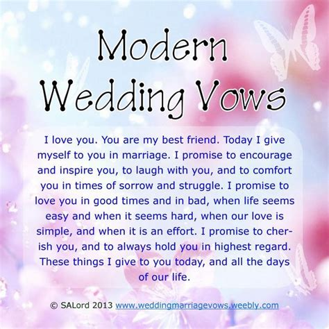 wedding vow template modern wedding marriage vows sle vow exles bread
