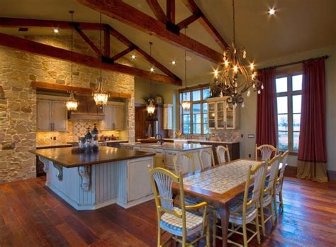 ranch home rustic kitchen houston by sweetlake