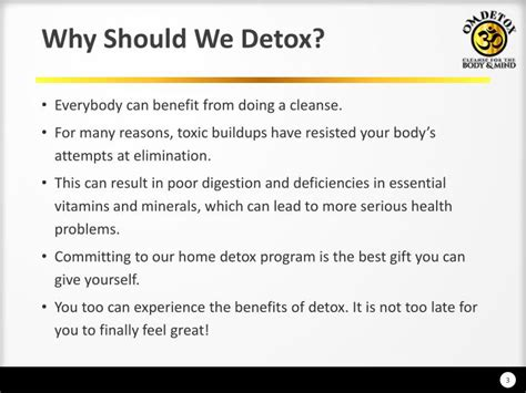 Symptoms Why You Should Detox by Ppt 7 Day Detox Colon Cleanse Programs Powerpoint
