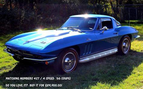 blue book value used cars 1966 chevrolet corvette regenerative braking 1966 chevrolet corvette sold sting ray coupe