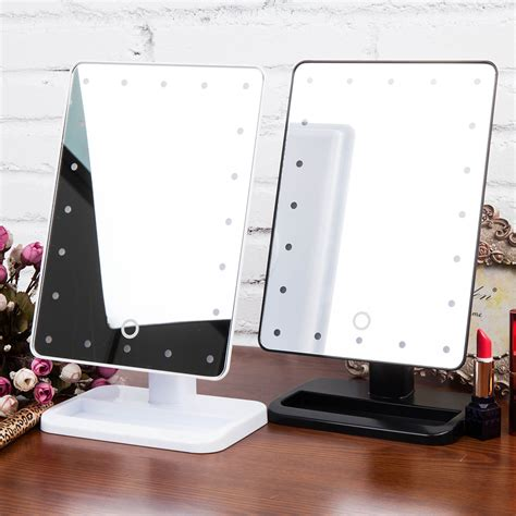 lighted bathroom vanity make up mirror led lighted wall 20 leds lighted make up cosmetic bathroom mirror