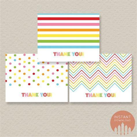 printable rainbow thank you cards pinterest
