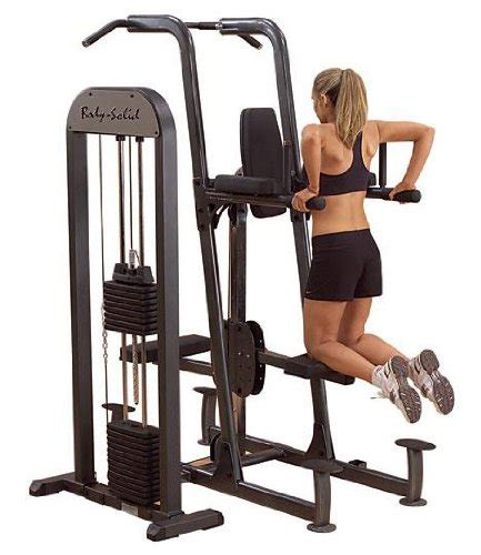 assisted weight bench body solid weight assisted chin and dip machine