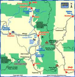 steamboat springs local area map colorado vacation directory