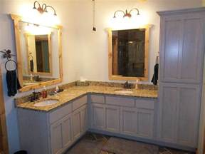 High quality corner bathroom vanity with double sinks