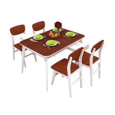 Meja Makan Ma Mm401 4 Kursi Hitam 1 jual dining sets terbaik terlengkap harga menarik
