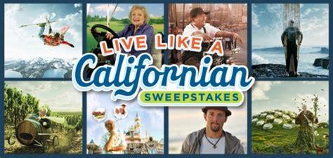 Live Like The Real Sweepstakes by Live Like A Californian Sweepstakes