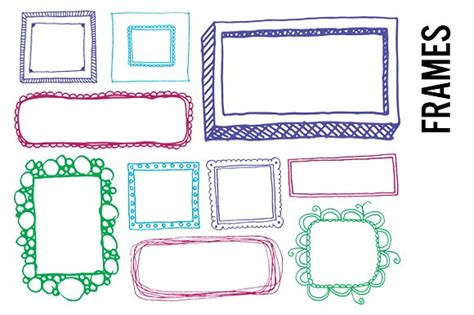 Frame Clipart 1208054 Illustration By by Doodle Frames Clip Illustrations Creative Market