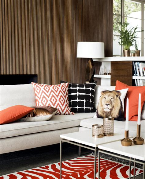 common ground the living room and leopard print pillows take home with africa safari look interior design ideas