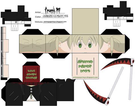 Soul Eater Papercraft - maka soul eater cubee by animepapertoys on deviantart