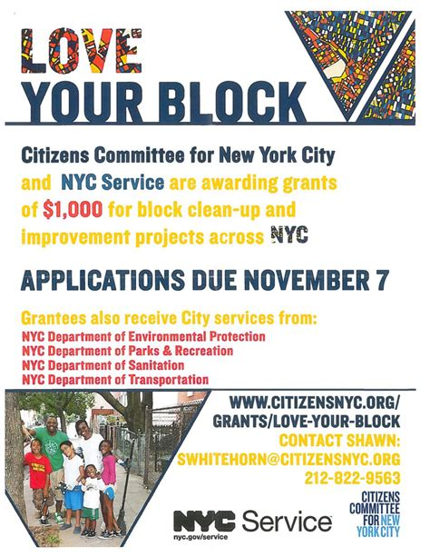 citizens committee for new york city your block