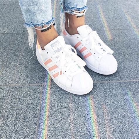 shoes adidas shoes pink pastel stripes superstar adidas adidas superstars pastel pink