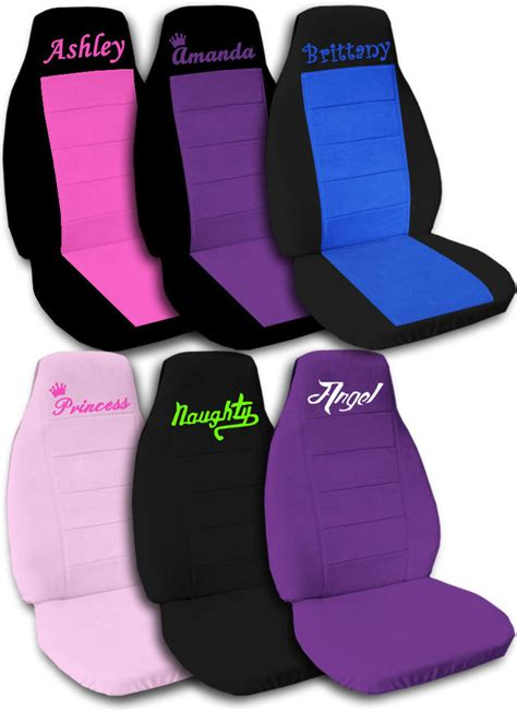 personalised seat covers personalized car seat covers quot get ur own design quot c l ebay