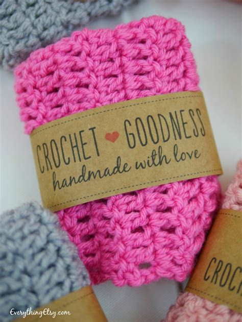 Handmade Labels For Crochet - free printable crochet gift labels