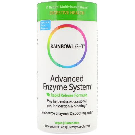 rainbow light advanced enzyme system rainbow light advanced enzyme system 快速释放配方 180粒素食胶囊