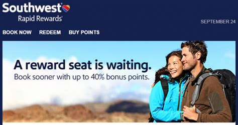 Can You Buy Points With A Southwest Gift Card - southwest buy gift rapid rewards points promo up to 40 bonus until october 1 2015