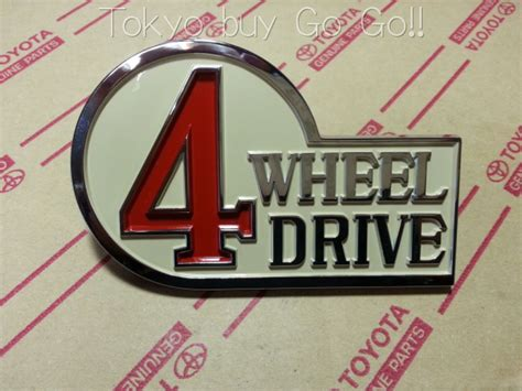 Emblem 4 Wheel Drive toyota land cruiser 40 series 4 wheel drive 4wd emblem badge genuine oem parts 1979 1984