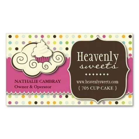 Business Card Template For A Bakery by And Whimsical Cupcake Bakery Business Card Bakery