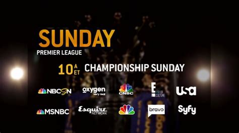 epl on tv today nbc sports finalizes tv schedule for final day of premier