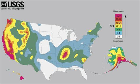 earthquake risk american red cross maps and graphics