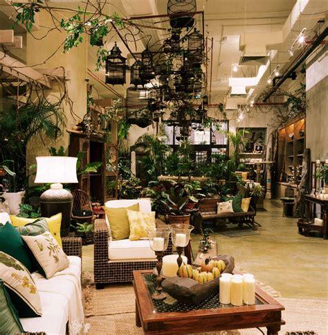 british india style interior hanging birdcages indoor