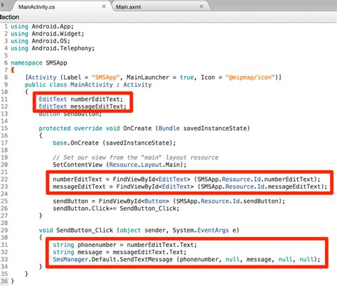 xamarin bluetooth tutorial send sms from android app with xamarin codemahal