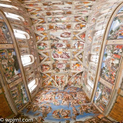 Sistine Chapel Ceiling Height by Sistine Chapel Ceiling Panorama