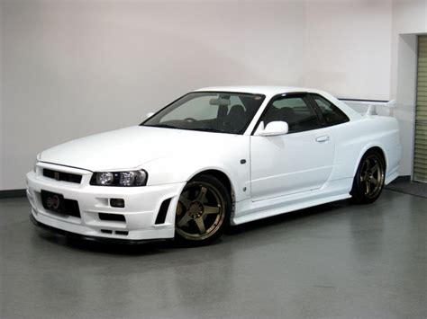 White R34 GTR   We Obsessively Cover the Auto Industry