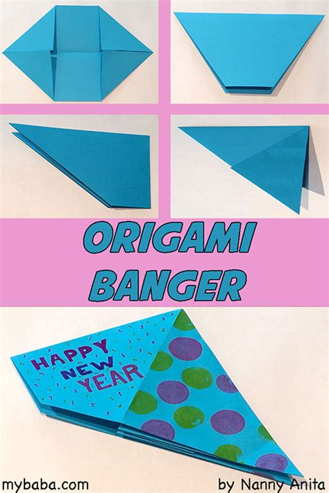 Origami Paper Banger - how to make an origami banger ring 2017 in with a