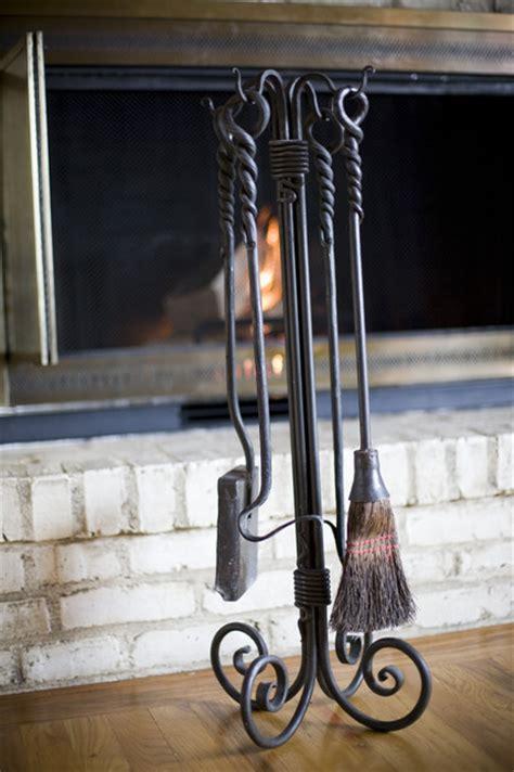 custom wrought iron fireplace tools