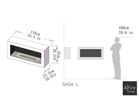 dimensioni camino camino bioetanolo a parete telecomandato automatico