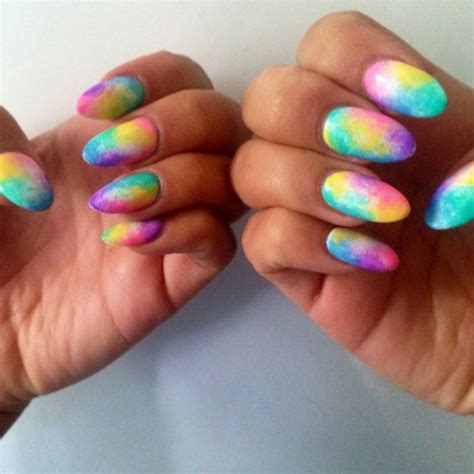 neon pattern nails nail designs 2016 2017 nailsbymh pastel tie dye effect