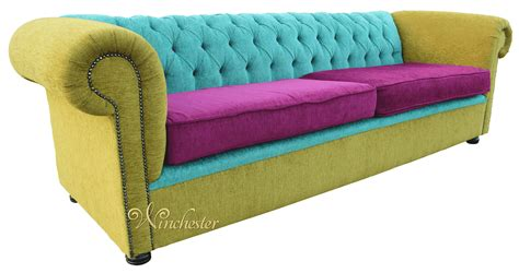 how to make chesterfield sofa chesterfield 4 seater settee sofa bespoke fabric lime