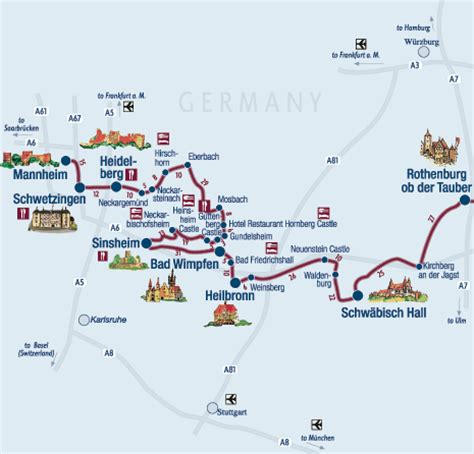 map of german routes castle route germany map
