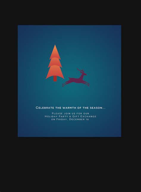 business christmas invitation card corporate greetings