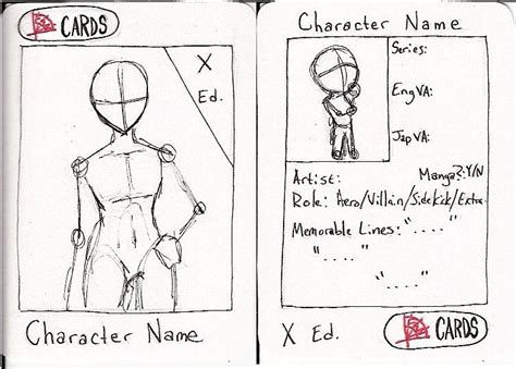 character trading card template trading card template by rhiakolareny on deviantart