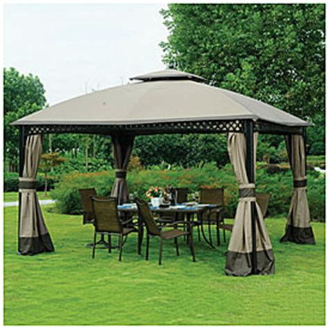 Big Lots Patio Gazebos View Wilson Fisher 174 10 X 12 Dome Gazebo Deals At Big Lots